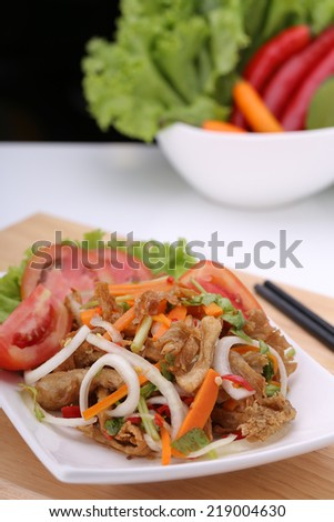 make vegetarian food - stock photo