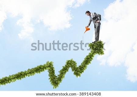 Make your income grow - stock photo