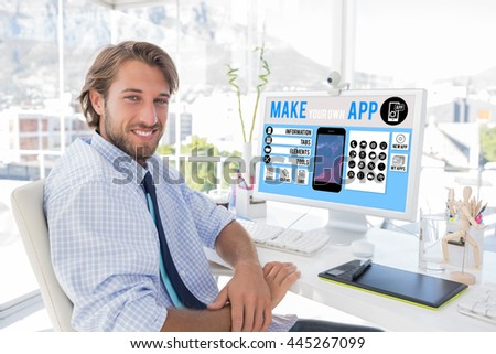 make your own app smartphone against stock photo 445267099