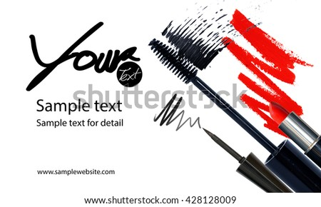 Makeup artist business card template makeup stock photo royalty makeup artist business card template with makeup items background accmission Image collections
