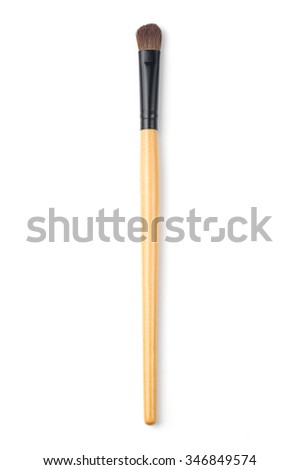 makeup brush Eye shadow - stock photo