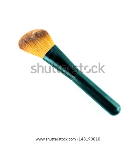 Makeup Brush Isolated - Makeup Brushes on a white background