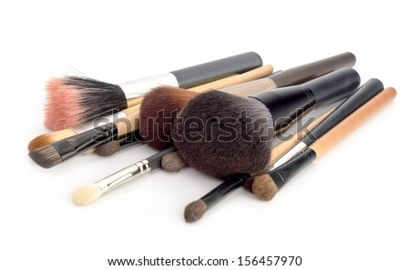Makeup Brush set Isolated on white background