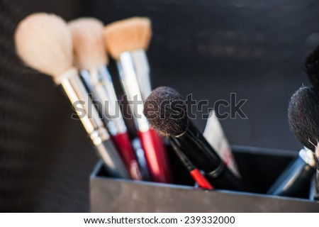 Makeup brushes of different shapes