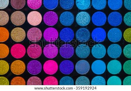 makeup colors  - stock photo