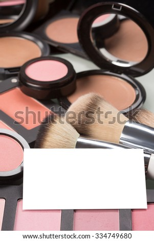 makeup cosmetics for eyes and bussiness card