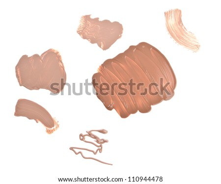makeup foundation isolated on white background