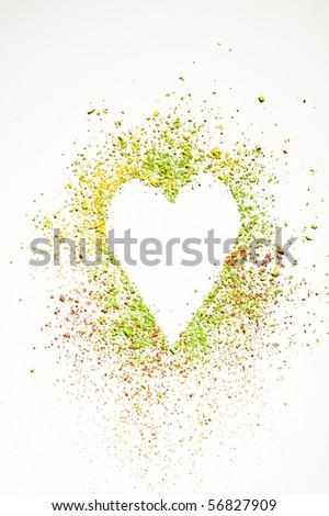 makeup heart - stock photo