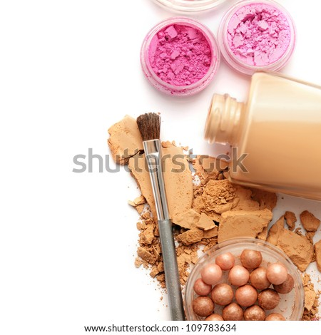 makeup isolated - stock photo