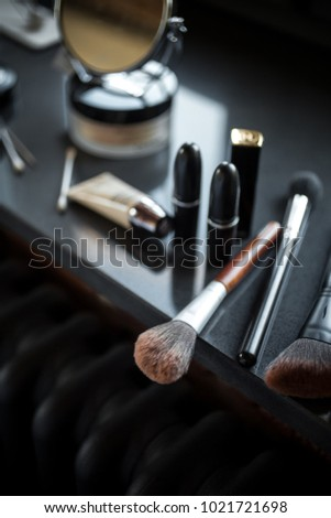 makeup items lying in the house