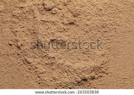 Makeup loose beige mineral face powder as a background. - stock photo