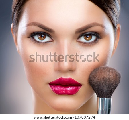 Makeup. Make-up Face - stock photo