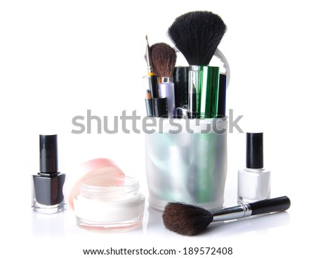 Makeup set, isolated on white