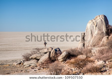 Makgadikgadi pans - stock photo