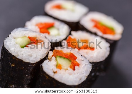 Maki roll with vegetable
