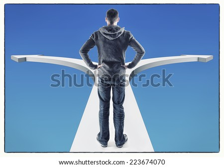making a decision - stock photo