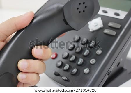 Making a phone call - stock photo