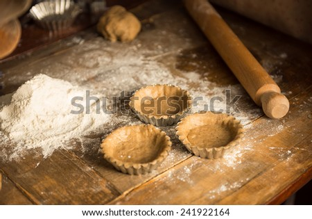Making a Pie - stock photo