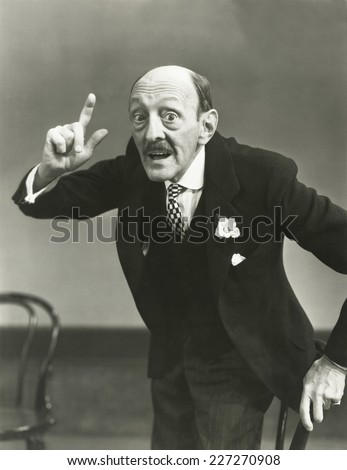 Making a point - stock photo