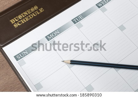 making an appointment - stock photo