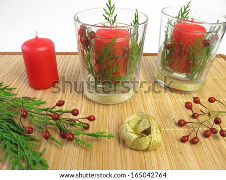 Making candles decoration
