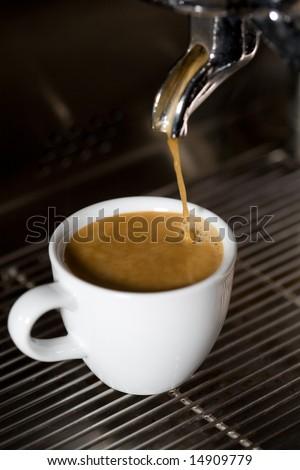 making coffee close-up - stock photo