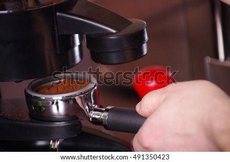 Making coffee,coffee maker,