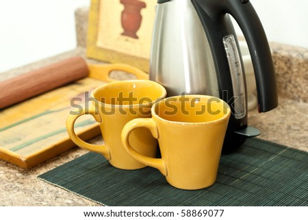 Making Coffee for Two - stock photo