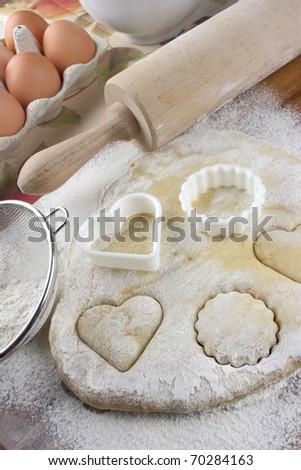 Making cookies - stock photo
