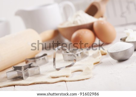 making cookies preparation set - stock photo