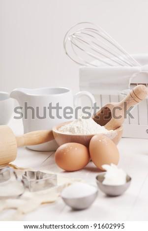 making cookies preparation set - stock photo