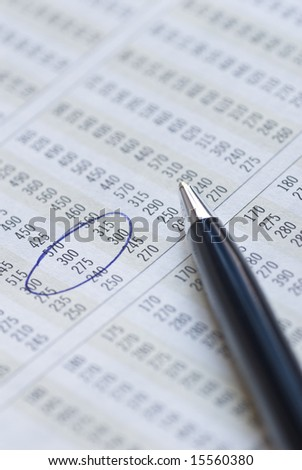 Making decision based on financial figures. - stock photo