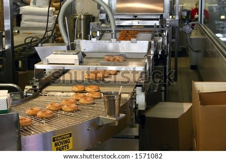 Making Donuts - stock photo
