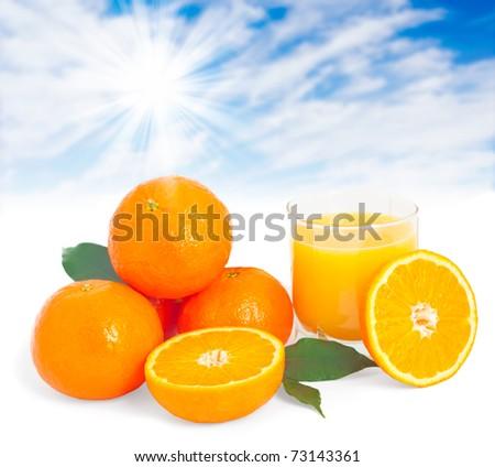 Making fresh orange juice concept. - stock photo