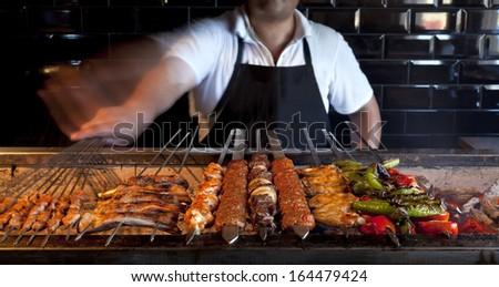 Making Kebab - stock photo
