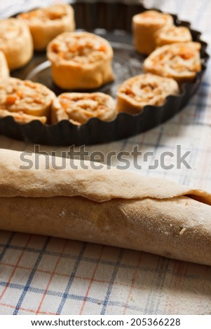 Making of a traditional cake - stock photo
