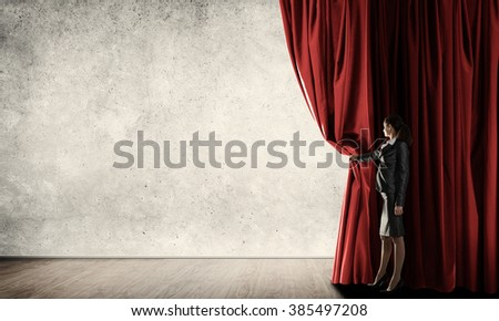 Making presentation - stock photo
