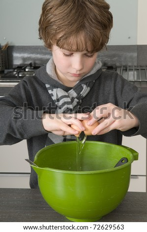 Making the dough - stock photo