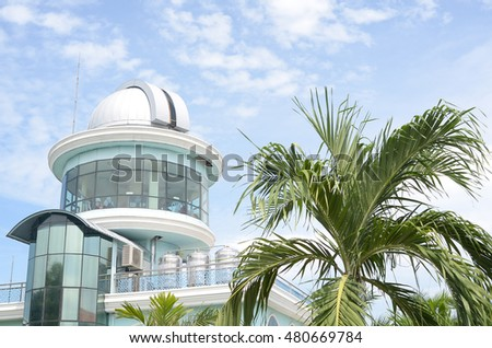 MALACCA, MALAYSIA - JULY 21,2016: The Al-Khawarizmi Astronomy Complex s an observatory in Masjid Tanah, Alor Gajah District, Malacca, Malaysia.The astronomy complex was  established in 2002