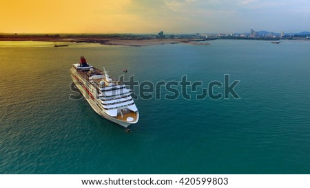 Malacca, Malaysia-May 14, 2016: Star Cruises Superstar Virgo docked at Ocean Terminal during sunset, Star Cruises is the third largest cruise line in the world.