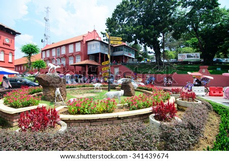 MALACCA, MALAYSIA - NOVEMBER 10, 2015: Also known as Melaka and was the location of one of the earliest Malay Sultanates back in 1400. It was listed as a UNESCO World Heritage Site on 7 July 2008.