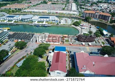 Malacca, Malaysia, top view - stock photo