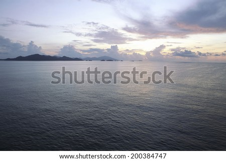 Malacca Strait And The Sky At Dawn
