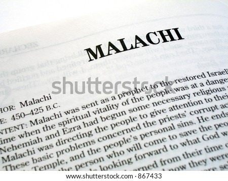 Malachi Book Of The Bible