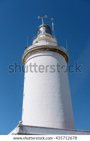 MALAGA, ANDALUCIA/SPAIN - MAY 25 : View of the Lighthouse in Malaga Spain on May 25, 2016 - stock photo