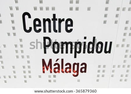 MALAGA, SPAIN - JANUARY 19: Pompidou Centre on January 19, 2016 in Malaga Spain. It was inaugurated on March 28 2015. - stock photo