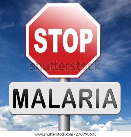 malaria prevention treatment with pills or mosquito nets good diagnosis for symptoms and insect repellent and net avoids bite and infection with parasite - stock photo