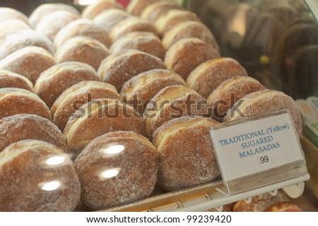 Malasadas at Punaluu Bake Shop - stock photo