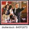 MALAWI - CIRCA 2008: A stamp printed in Malawi shows the 44th President of United States of America, Barack Obama and your family, circa 2008 - stock photo