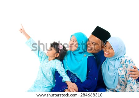 Malay family - stock photo